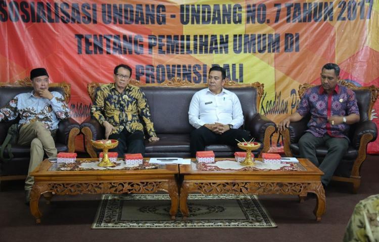 Bawaslu Bali Hadiri Sosialisasi Undang-Undang Nomor 7 Tahun 2017