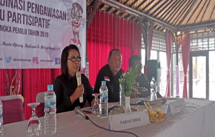 Bawaslu Bangli mengajak Perbekel dan PKK Untuk Ikut Serta Mengawasi Pemilu 2019