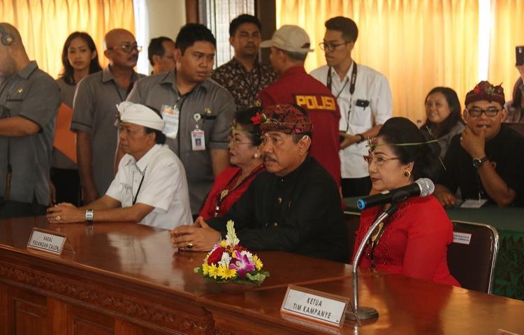 KBS-ACE Mendaftar Sebagai Pasangan Calon Gubernur dan Wakil Gubernur Bali Tahun 2018