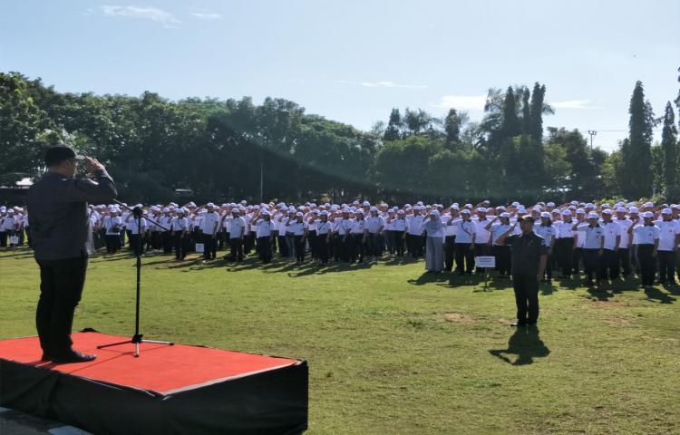 PANWASLU BULELENG GELAR APEL SIAGA PENGAWASAN PEMILIHAN GUBERNUR & WAKIL GUBERNUR BALI TAHUN 2018