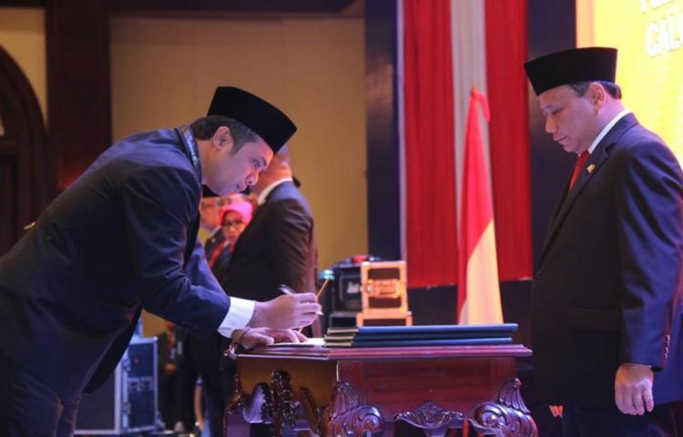 Pelantikan Bawaslu Kabupaten/Kota Se-Bali terpilih periode 2018-2023