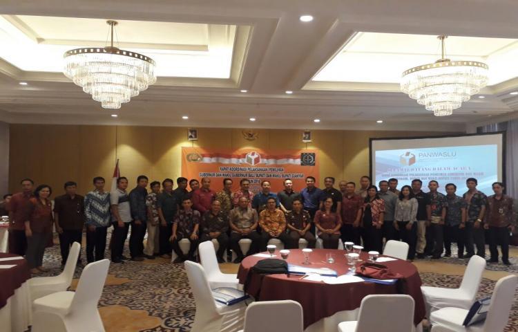 Rapat Koordinasi Pelaksanaan Pemilihan Gubernur dan Wakil Gubernur, Bupati dan Wakil Bupati Gianyar Tahun 2018
