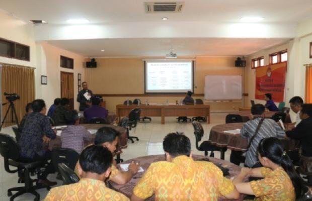 Pelatihan Pengelolan Penatausahaan dan Kearsipan di Lingkungan Bawaslu Provinsi Bali Tahun 2016 Pada Tanggal 28 s.d 29 Januari 2016